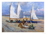Sail Carts Giclee Print by Paul Bayart