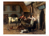 The Market Square Giclee Print by Theodore Gerard