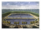 Lagoon in the Garden of Versailles Giclee Print by Ferdinand Delamonce