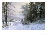 Late Lies the Winter Sun Reproduction procédé giclée par Anders Andersen-Lundby