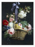 Romantic Basket of Flowers Giclee Print by Antoine Berjon
