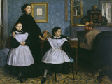 The Bellelli Family, c.1858 Art by Edgar Degas