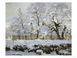 The Magpie, c.1869 Print by Claude Monet