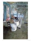 In the Restaurant Giclee Print by Albert Ludovici