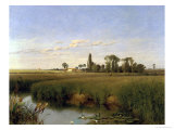 On the River Wey, Surrey, c.1859 Giclee Print by Frederick Hulme