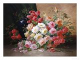 Romantic Roses Giclee Print by Alfred Godchaux