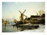 Village in Mid-Winter Giclee Print by Johannes Bartholomaus Duntze