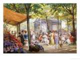 Parisian Flower Market Reproduction proc&#233;d&#233; gicl&#233;e par Eugene Auguste Deully