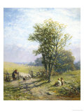 Beautiful Summer's Day Giclee Print by James John Hill