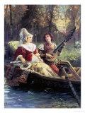 Romantic Serenade Giclee Print by Cesare A. Detti