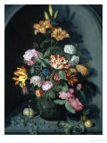 Still Life of Flowers in an Alcove Giclee Print by Johannes Bosschaert