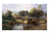 Watering Time Giclee Print by Myles Birket Foster