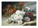 Roses and Gillyflower Giclee Print by Eugene Henri Cauchois
