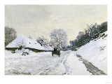 Route in the Snow near Honfleur, c.1867 Prints by Claude Monet