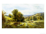 Haymaking near Sedlescombe, Sussex Giclee Print by Alfred Augustus Glendenning