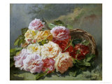 Romantic Roses Giclee Print by Pierre Bourgogne