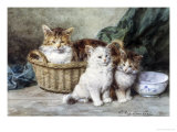 Kittens Giclee Print by Louis Eugene Lambert