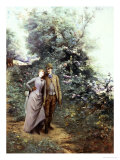 Walk in the Wood Giclee Print by Georges Clairin