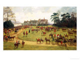 The Cheshire Hunt: The Meet at Calverley Hall Giclee Print by George Goodwin Kilburne