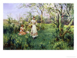 Country Cousins Giclee Print by Alfred Augustus Glendenning