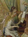 Two Girls at the Piano, c.1892 Giclée-tryk af Pierre-Auguste Renoir