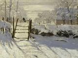Claude Monet - The Magpie, c.1869 - Giclee Baskı