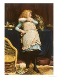 Coaxing Is Better Than Teasing Giclee Print by Charles Burton Barber