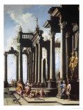 Roman Capriccio Lámina giclée por Viviano Codazzi