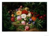 Still Life of Summer Flowers Giclée-Druck von Josef Lauer