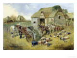The Turnip Cart Giclee Print by John Frederick Herring II