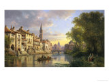 River View in Alsace Giclee Print by Charles Kuwasseg