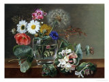Still Life of Flowers in a Glass Giclee Print by Johan Laurentz Jensen