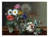 Still Life of Flowers in a Glass Giclee Print by Johan Laurentz Jensen