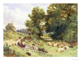 The Shepherd's Family Giclee Print by Myles Birket Foster