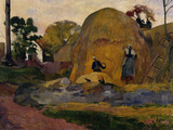 The Yellow Haystacks, c.1889 Giclee Print by Paul Gauguin