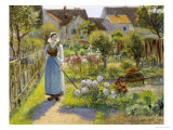 Tending the Garden Giclee Print by Jean Beauduin