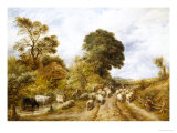 Country Road Giclee Print by John Linnell