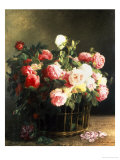 Roses in a Basket Giclee Print by Hermann Looschen