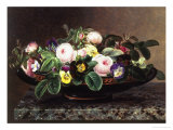 Roses and Pansies in a Greek Kylix Giclee Print by Johan Laurentz Jensen