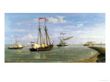 Boats Coming in to the Harbor Giclee Print by Hendrik Hulk
