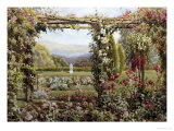 The Rose Garden Giclée-Druck von Robert Atkinson