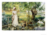 Reverie by the River Giclee Print by Alfred Augustus Glendenning