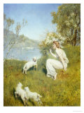 Tune for the Lambs Giclee Print by John Collier