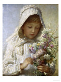 Posy of Pretty Flowers Giclee Print by Carl Bauerle