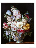 Vase of Summer Flowers Giclee Print by Alexandre-Francois Desportes
