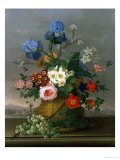 Still Life of Flowers on a Ledge Giclee Print by Johann Knapp