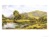 View of the River Conway Giclee Print by Benjamin Williams Leader