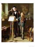 The Music Lesson Giclee Print by Just Jean Christian Halm