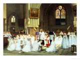 Confirmation at Villiers le Bel Giclee Print by Theophile E. Duverger