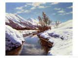 Bright Winter's Day Giclee Print by Ivan Fedorovich Choultse
